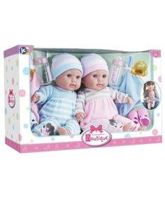6e43935f7e5b9 Berenguer Babypuppen 30050- Zwillings - Set 38 cm mit Schlafaugen