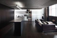 Индустриальный стиль апартаментов в Сиднее