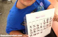 Adapted Calendar Activities | The Autism Helper
