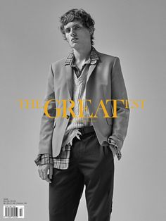 THE GREATEST #10 - THE AWAKENING ISSUE - PHOTO THOMAS GOLDBLUM -FASHION EDITOR BENOIT MARTINENGO -MODEL LEMMIE VAN DEN BERG at SUCCESS - GROOMING CHRIS VOURLIS -TOTAL LOOK #MSGM