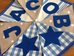 Personalised Name Personalized Name Boys Bunting by MadsieGrace