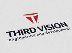 Third Vision Brand Identity, #Branding, #Business_Card, #Construction, #Engineering, #Graphic #Design, #Identity, #Logo, #Management, #Print, #Red, #Stationary