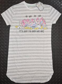 fd131049abdd4e Seven Dwarfs PRIMARK NIGHTIE T Shirt DISNEY Snow White PJ Sizes 4 - 20 NEW