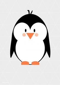 Een leuke poster van Designed4kids met erop een pinguin. Ook mogelijk met de naam van je kindje.