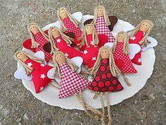 Dekorácie - Anjelik na stromček - 4865858_ Felt Christmas Decorations, Crochet Christmas Ornaments, Christmas Sewing, Christmas Love, Felt Ornaments, Christmas Angels, Handmade Christmas, Angel Crafts, Christmas Projects