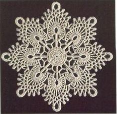 Crochet Tablecloth, Crochet Doilies, Crochet Flowers, Crochet Lace, Crochet Thread Patterns, Crochet Designs, Crochet Stitches, Crochet Flower Tutorial, Crochet Snowflakes