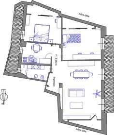 2-fotoB_Dopo-ristrutturazione Feng Shui, Floor Plans, Relax, How To Plan, Architecture, Ideas, Home Plans, Trendy Tree, Arquitetura