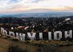 View from the Hollywood sign.