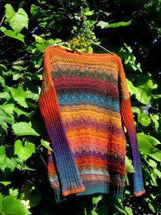 Вязаный пуловер из Дундаги Антидепрессант!