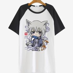 This is Tomoe, one of the most iconic romantic characters of the famous shoujo, Kamisama Hajimemashita. He's a super kawaii fox, that turns into a sexy yokai. Who wouldn't love him? Material: 100% Cot