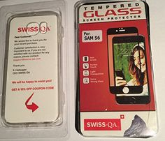 Galaxy Clear Case with Screen Protector Set - with Bumper and Dust Plugs - Ultra Slim Cover - Keeps the Original Design - Perfect Fit - Precise Cutouts - Scratch Dust Proof- By SWISS-QA Dust Plug, Tempered Glass Screen Protector, Plugs, Theater, Perfect Fit, Iphone Cases, Audio, The Originals, Amazon