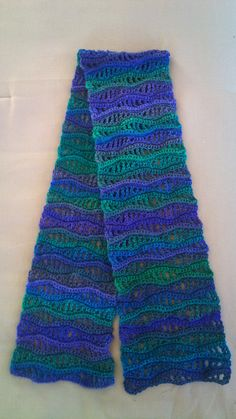 Ravelry: Project Gallery for Nancy's Waves Scarf pattern by Cori Dodds Red Heart Boutique Unforgettable Dragonfly