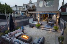 Pergola patio, backyard landscaping, modern backyard, landscaping design, o Backyard Patio Designs, Small Backyard Landscaping, Backyard Pergola, Modern Landscaping, Pergola Plans, Landscaping Design, Pergola Kits, Pergola Ideas, Hillside Landscaping