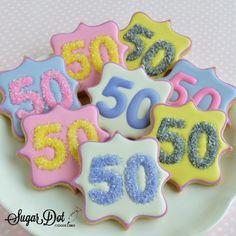 Sugar Dot Cookies: 50th Birthday Sugar Cookies