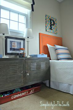 Belle: paint tv cabinet boys room Faux Aged Steel Ikea Cabinet Inspired By Restoration Hardware