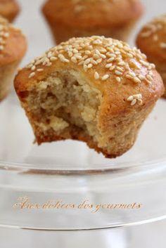 muffins au tahin et sésame