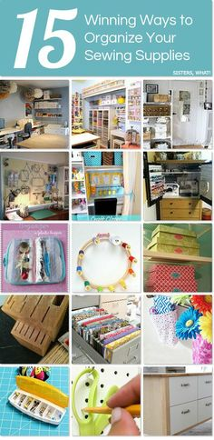 Sewing Fabric Storage 15 ways to organize your sewing supplies - 15 winning ways to organize your sewing supplies Sewing Room Storage, Sewing Room Decor, Sewing Room Organization, My Sewing Room, Craft Room Storage, Sewing Art, Sewing Rooms, Craft Rooms, Fabric Storage