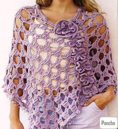 Patrones Crochet: Poncho Circulos de Amor Patron para hacerlo en casa.