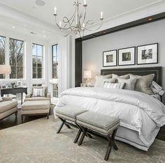 Dreamy master bedroom by Middlefork Development.