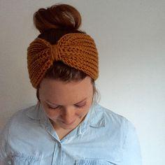Womens Accessories, Turban Headband, Knitted Head Band, Womens Headband, Honey Yellow    REBEKKA TURBAN