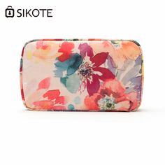 85c311dcc742 SIKOTE Square Cosmetic Bag Women Portable Compact Travel Package Waterproof  Pouch Polyester Makeup Bags Cosmetic Case