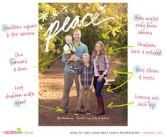 Hey, look!  It's my family picture by the fabulous @Sara Eriksson Seeton  Posing tips for family pictures - Universal tips to help you take your BEST family photo ever | Cardstore Blog