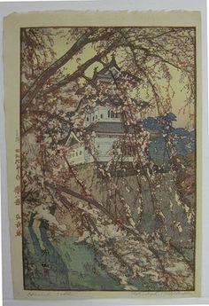 Hirosaki Castle  Artist:Hiroshi Yoshida
