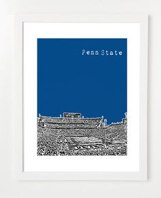 Penn State Poster  Nittany Lions Art Print  NCAA by birdAve, $20.00
