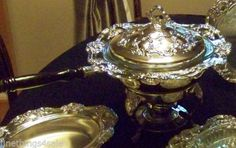 TOWLE SILVER ExLARGE OLD MASTER CHAFING DISH SERVING TRAY SET -VIEW ALL OUR LOTS