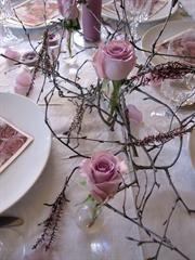 FIFF - Blomsterdekoratør - Arbeidslogg - Bordpynt 40-årsselskap