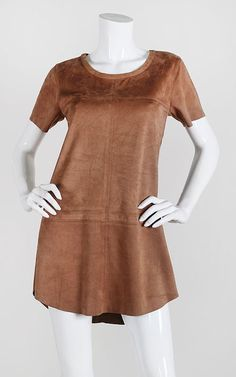 Suede Shift Dress- Camel $50 with Free Shipping!