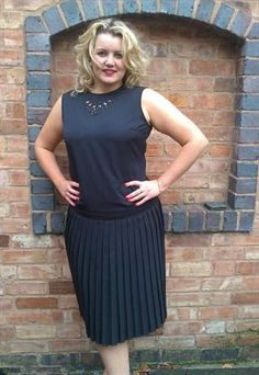 """Flapper style vintage dress by """"Simon Ellis"""" £55.00 Stunning example of a truly unique vintage dress which has been reworked by Designer Kate Siller"""
