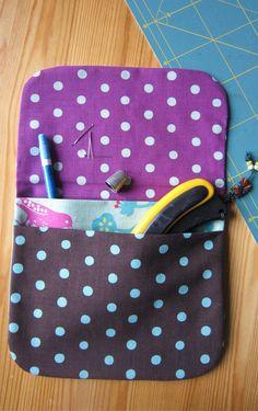 2 pouch pockets - seams invisibles- 23 x 20 cm