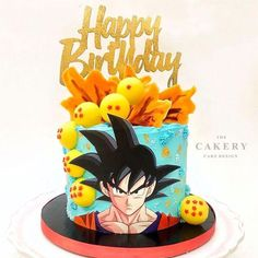 Goku Birthday, Llama Birthday, Dragon Birthday, Ball Theme Party, Ball Birthday Parties, Party Themes, Tarta Dragon Ball, Dragon Ball Gt, Dragonball Z Cake