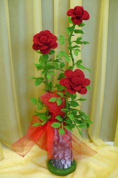 Flores de crochê.  Seleção de inspiração (12) (464x700, 217KB)