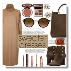"""Cozy and Cute: Sweater Dresses"" by sc-styles ❤ liked on Polyvore featuring Tommy Hilfiger, Dolce&Gabbana, MaxMara, Charlotte Tilbury, Chrome Hearts, J.Crew and Essie"