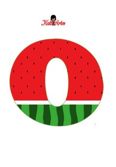 Watermelon Birthday Parties, Baby Boy 1st Birthday Party, One In A Melon, Cool Lettering, Maya, Letter Patterns, Letters And Numbers, Party Time, Alphabet