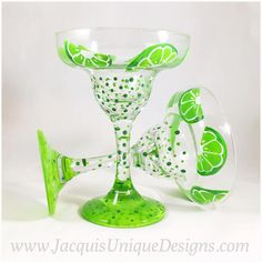 Enjoy your fun Margarita glasses all summer long, or all year round! They makes a great gift, a beautiful addition to any dining table, collection or keepsake. Wine Glass Designs, Margarita Glasses, Wine Craft, Perfume, Painted Wine Glasses, Glass Art, Wine Bottles, Xmas Gifts, Diy Gifts