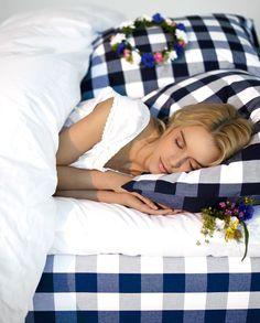 Blue check midsummer sleep