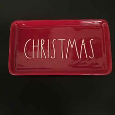 Cool item: Rae Dunn CHRISTMAS Tray, candy apple