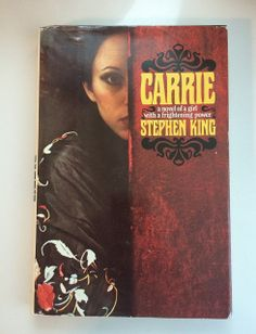 "Collectible hardcover edition of Carrie, Stephen King. NOTE: This is the collectible 1974 book club edition, with a gutter code of ""mp3x"". Not a 1st edition. Black and burgundy cloth boards with gold lettering. 199 Pages; size: 8 vo, hardcover, with original jacket. ISBN: 0385086954. Doubleday. Condition: Pre-owned, vintage book. Strong binding. Very clean inside -- pages are like new. Light edge wear to jacket. Not price-clipped. No writing in or on; no dog-eared pages."
