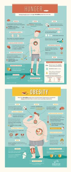How do hunger and obesity affect the body? Our latest #infographic has the facts.