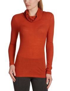LANA natural wear Damen Pullover, 122 2070 1063 / Rolli Linda, Gr. 38 (S), Orange (red clay): Amazon.de: Bekleidung