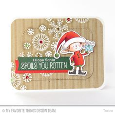Santa's Elves, Snowflake Flurry, Candy Stripes Background Builder, Blueprints 20 Die-namics, Santa's Elves Die-namics, Stitched Rounded Rectangle STAX Die-namics - Torico  #mftstamps