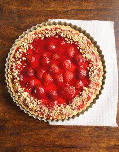 comida de quinta: torta de morangos