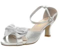 Amiana 15-A5302 Satin Bow Kitten Heel > Additional details at the pin image, click it  : Girls sandals