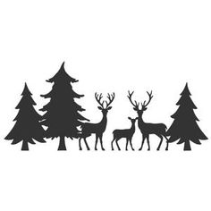 Silhouette Design Store - Search Designs : shadow box with deer Silhouette Design, Tree Silhouette, Christmas Drawing, Christmas Art, Christmas Border, Cricut Christmas Ideas, Christmas Decorations, Wood Burning Stencils, Hobbies And Crafts