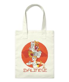 Balinese Natural Tote Bag Front