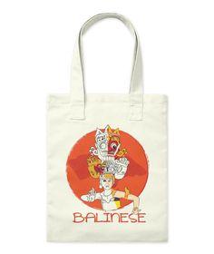 Balinese Natural Tote Bag Front