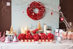 10 idéias de mesas de doces para Natal